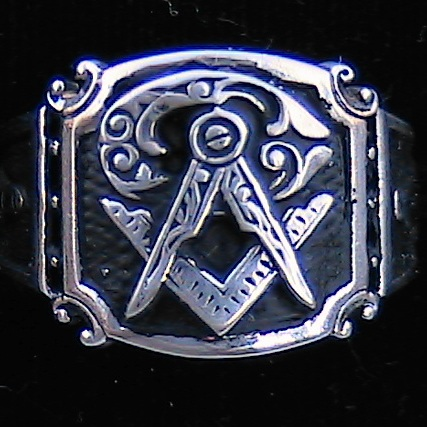 New Sterling Gold Plated Masonic Ring
